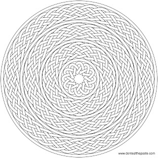 braid or knotwork coloring page