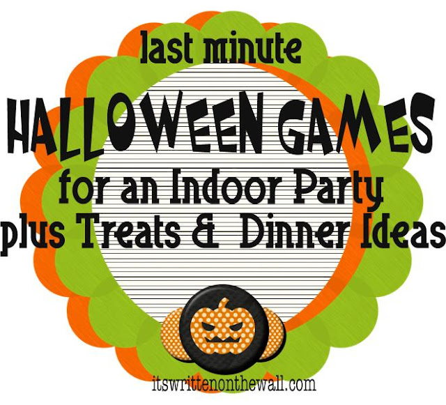 it 39 s written on the wall indoor halloween games dinner