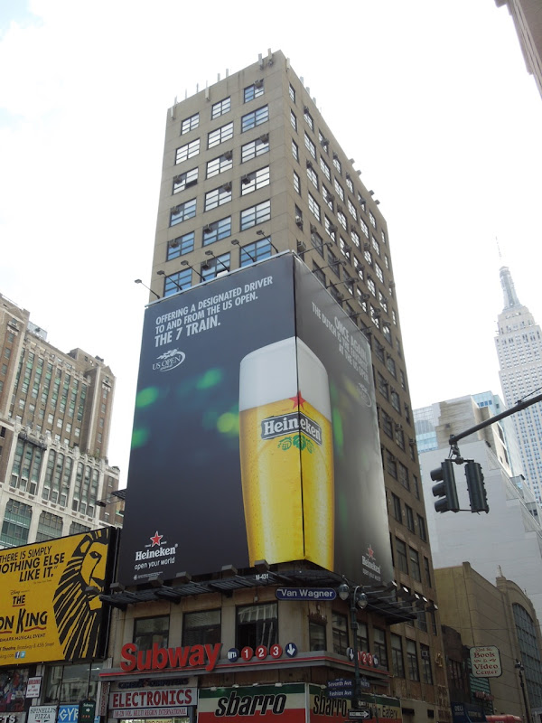 Heineken US Open tennis billboards NYC