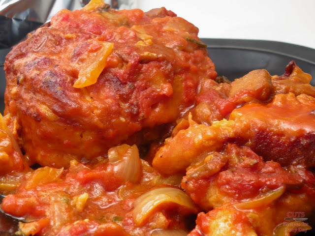 Slow cooker tomato chicken