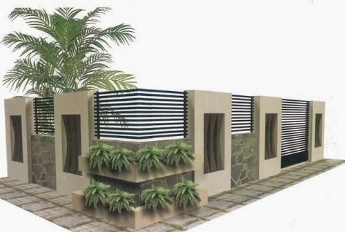 Gambar Desain PAGAR DEPAN Rumah Minimalis 002