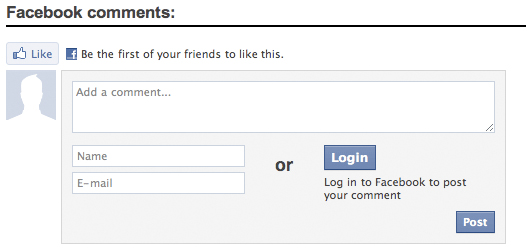 how to add facebook comment box in php