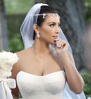 vestido de casamento de Kim Kardashian