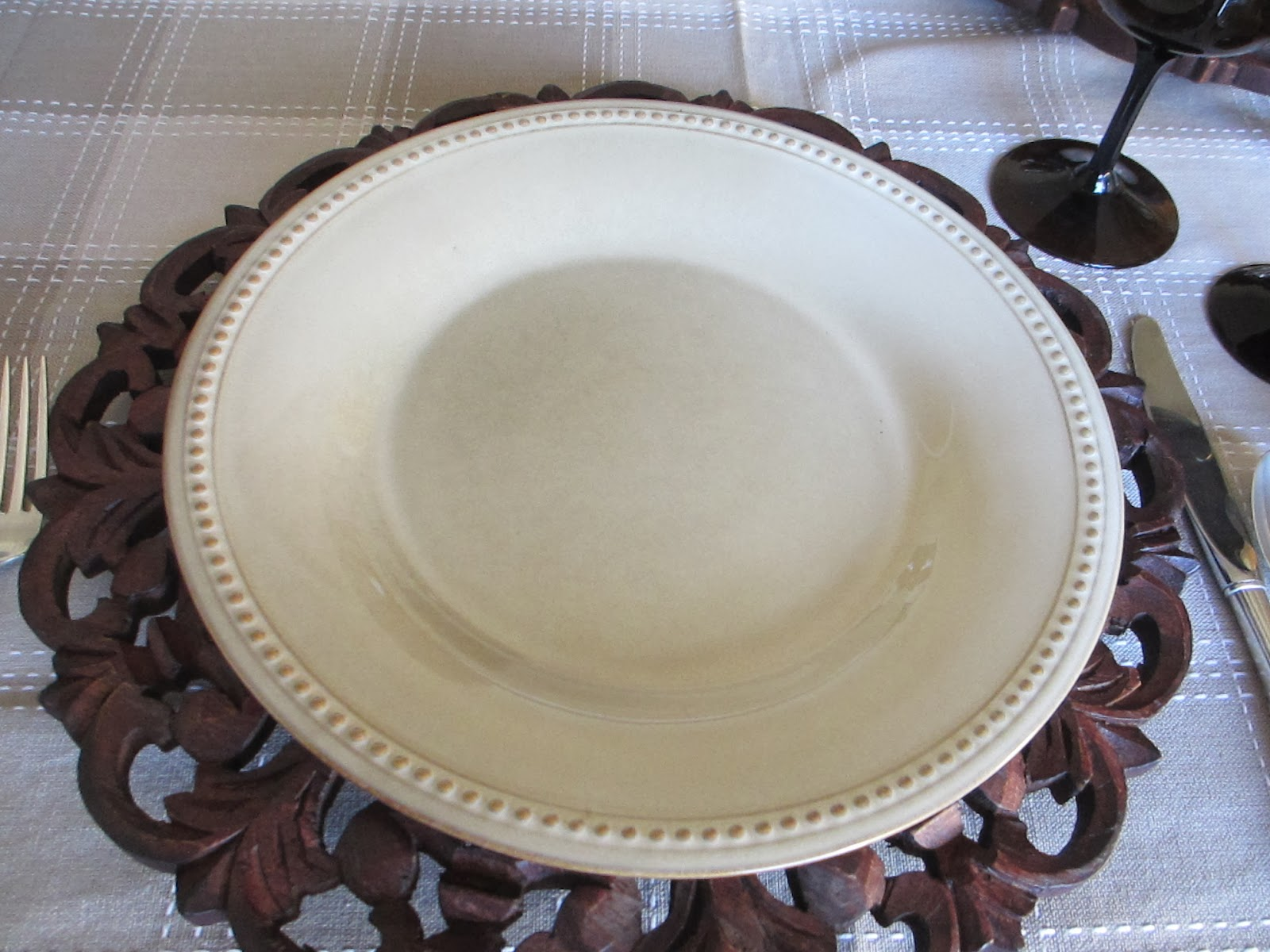 The dinner plate is  Sesame Spice Route  - our Pier 1 carries this pattern in four different colors & The Welcomed Guest: January 2014