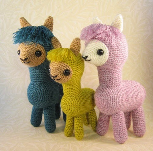 Lucyravenscar alpaca family amigurumi pattern
