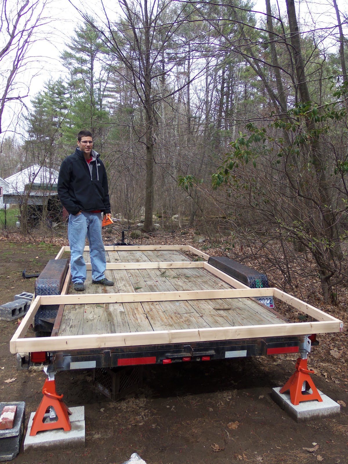 Another Tiny House Story Subfloor Framing Completed