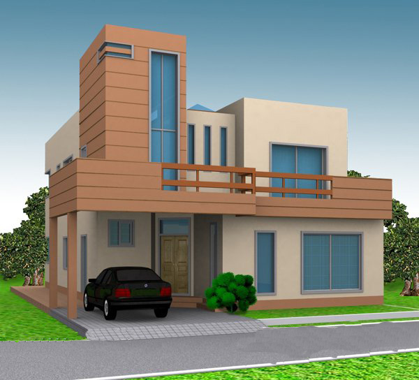 Home Front Elevation Uk : D perspective views