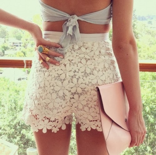 Stylish lace shorts for summers