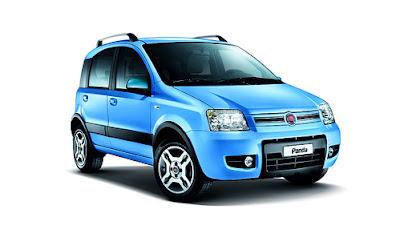 Fiat Panda Natural Power azzurra.