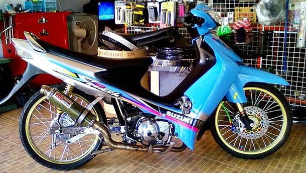 Modifikasi Motor Suzuki Smash SR