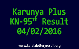 Karunya Plus KN 95 Lottery Result 04-02-2016
