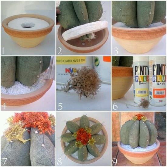 Cactus de tecido com PAP (DIY)
