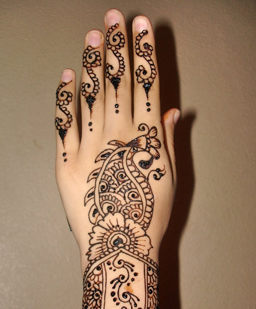 Easy Mehndi Patterns To Copy : Mehndi design for hands beautyway life