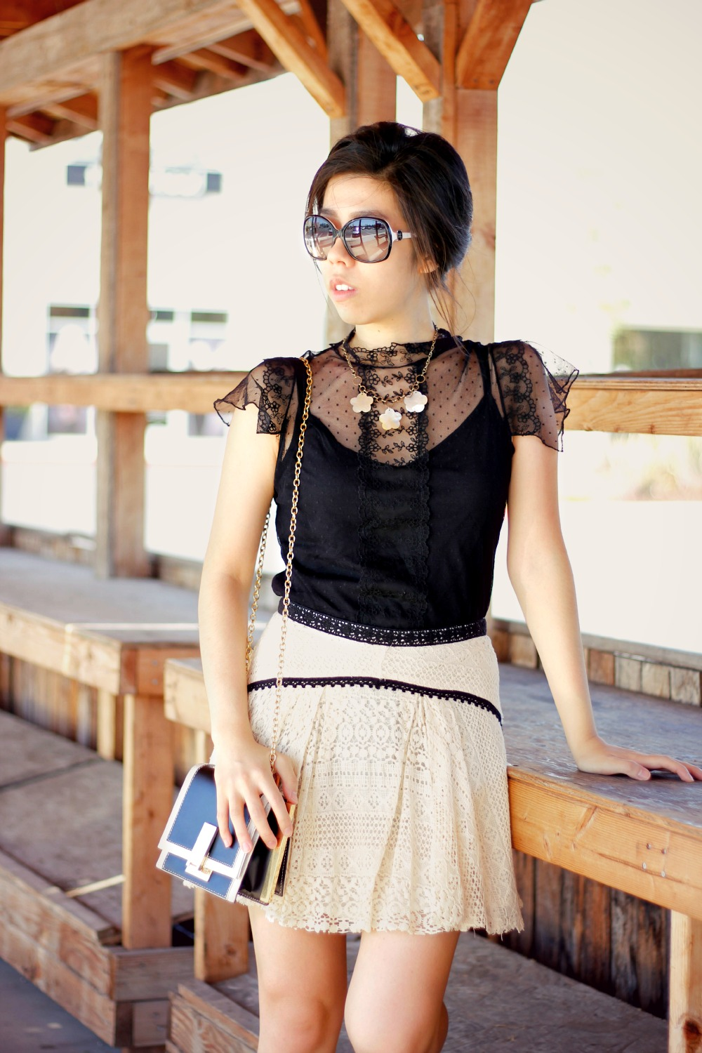How to Wear a Black Lace Top- Bohemian Fashion