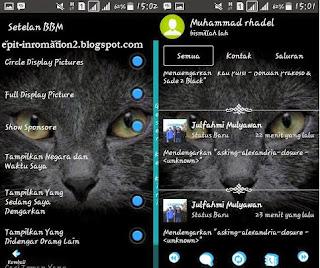 BBM Mod Versi 2.8 Apk MR Transparan Theme Terbaru