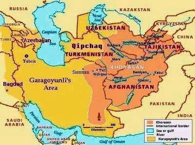 محدوده مرزی ترکمنستان در دوره سلاطین قره قویونلی