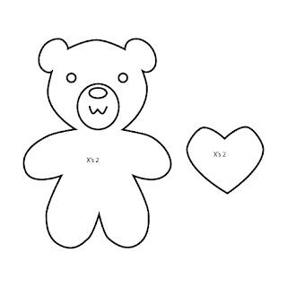 Valentine's Bear Plush Template Bubs B4Astudios Aiko Miyoko