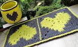 Tapete Corações Amarelos e Cesto (Tapestry)