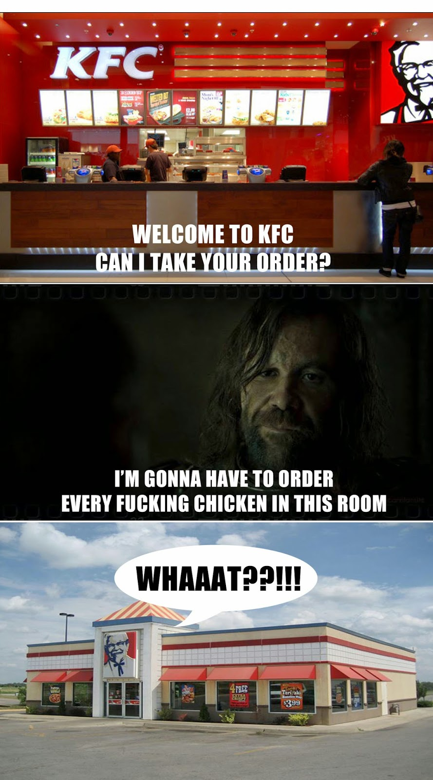 KFC Game Of Thrones Meme | Every Fucking Chicken In The Room #Season4
