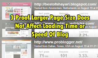 3 Proof Larger Page Size Of Blog Does Not Affect Loading Time