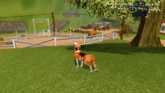 Dog's life game review ps2 game jake at the starting farm