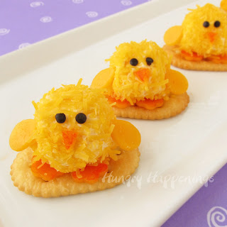 Easter Chick Cheese Balls
