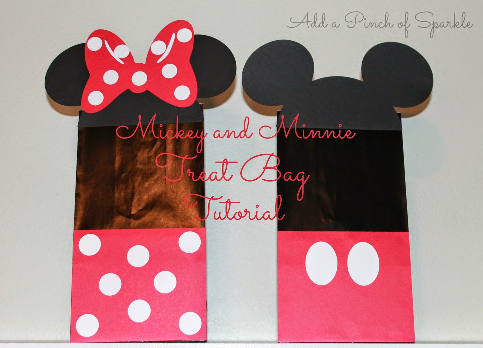 I Recently Made Some Mickey And Minnie Treat Bags For A Mouse Themed Birthday Party Got The Inspiration Them By Searching Internet