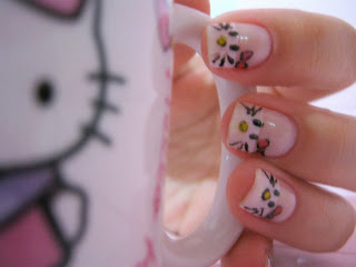 Cute Simple Hello Kitty Nail Art
