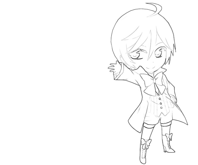 printable alois trancy chibi coloring pages - Black Butler Chibi Coloring Pages