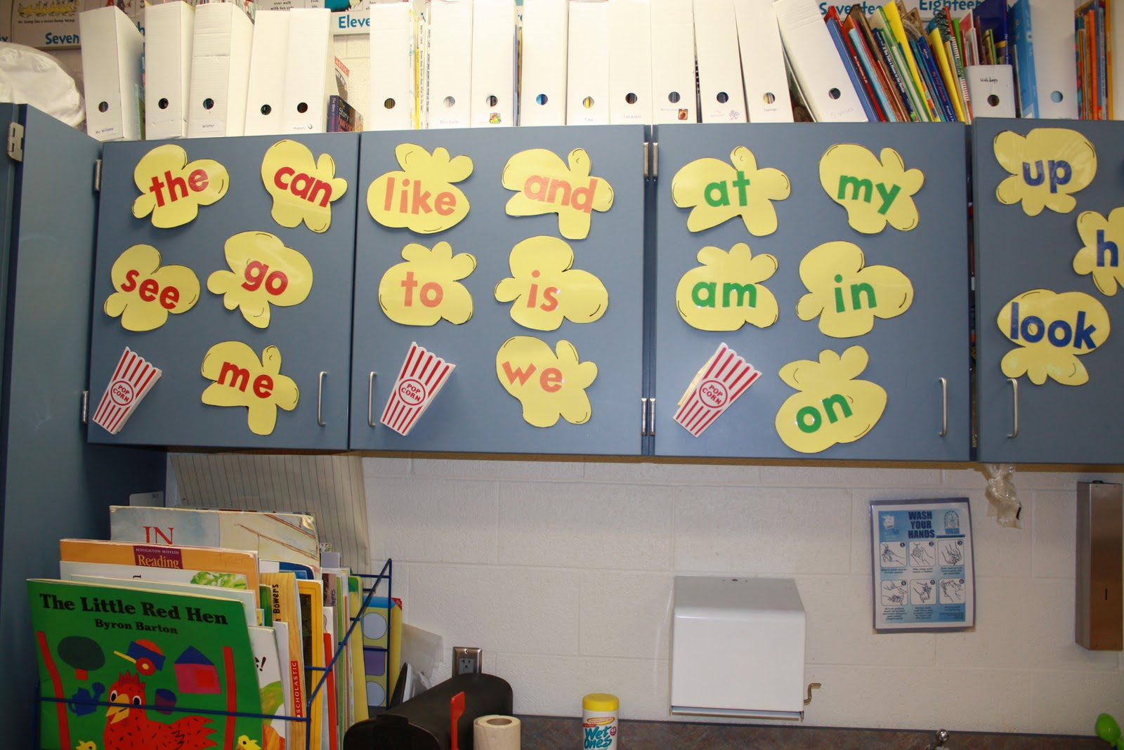 Classroom Word Wall Ideas ~ Popcorn word wall ideas learningenglish esl