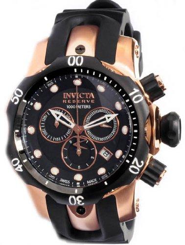 b03cbe089ba INVICTA 0948 - Venom Rose-ouro Chronograph - Watch Movimento de quartzo  suíço Chama-fusão cristal  caixa de aço inoxidável  pulseira em poliuretano  preto ...