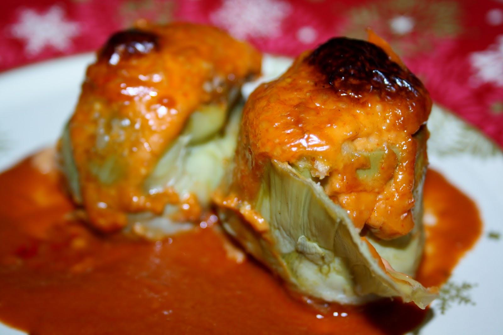 La cocina de maricarmen alcachofas de marisco gratinadas - Cocinas maricarmen ...