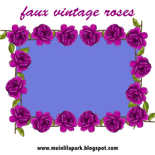 Purple Rose Frame Free digital purple ro...