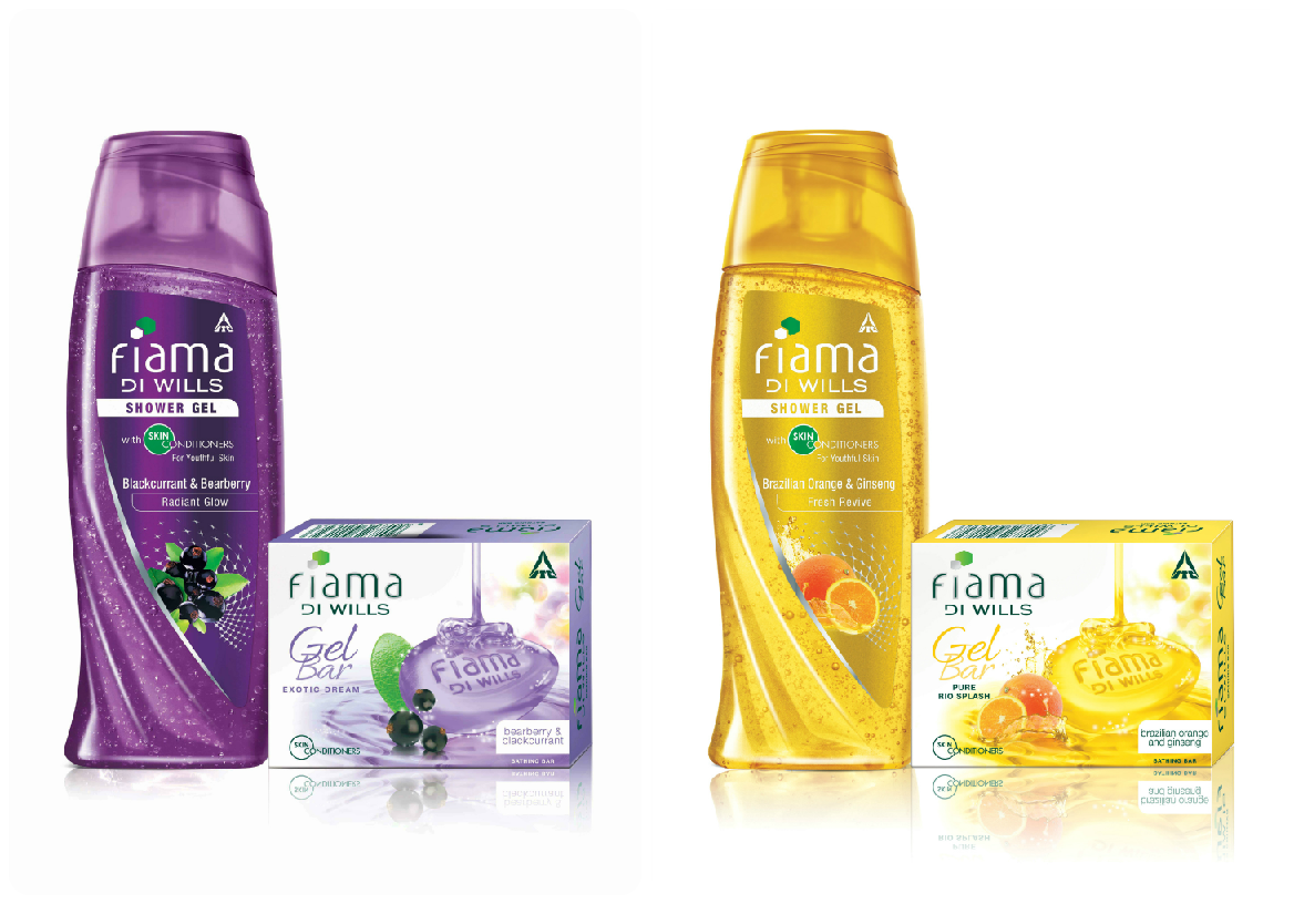 Fiama Di Wills Black Currant-Bearberry and Brazilian Orange-Ginseng Shower Gels/Gels Bars
