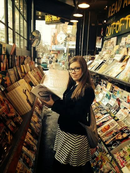 Reading in Pike Place Market