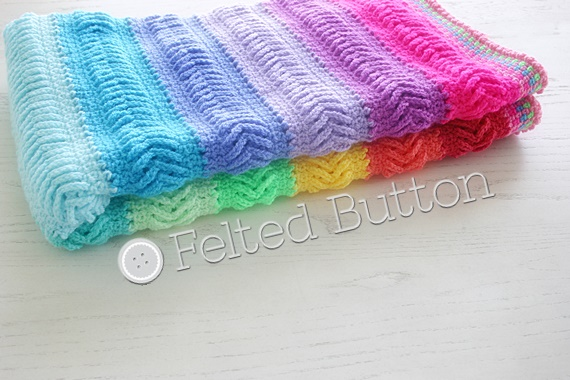 Plaited Throw crochet pattern by Susan Carlson of Felted Button