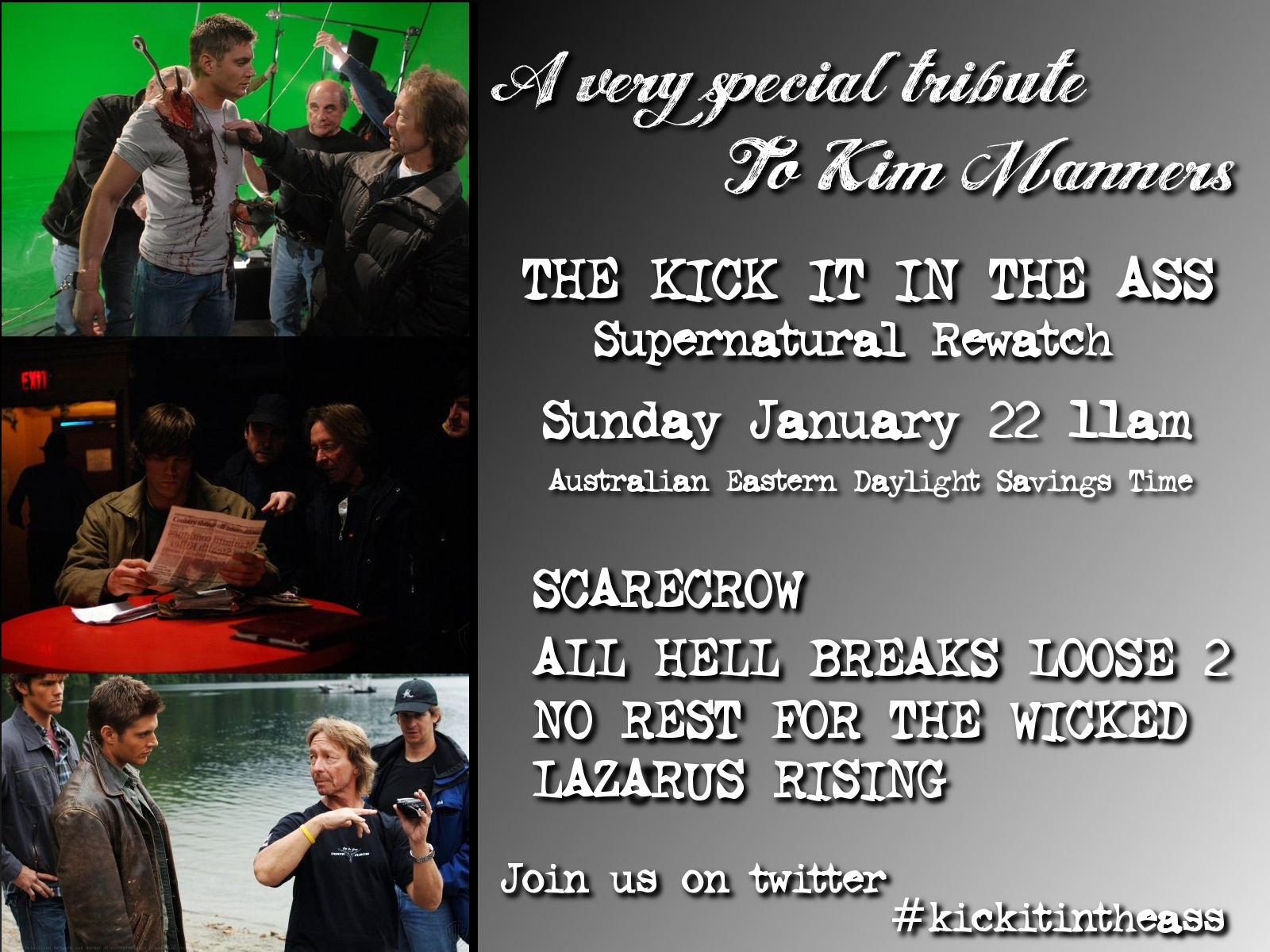 Kim Manners is a director who has shot every third episode of The X-Files and Supernatural 42