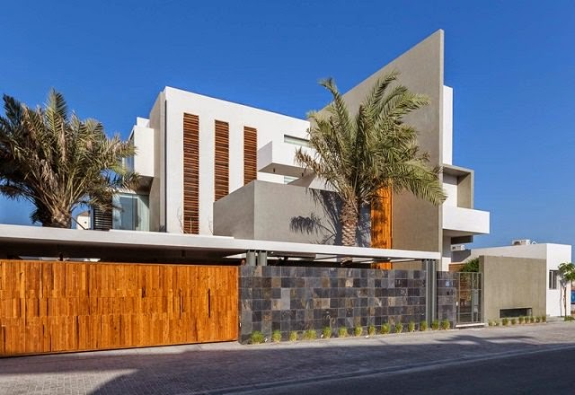 Villa amwaj una moderna casa minimalista en bahrein for Casa minimalista