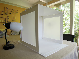 Picture of a light box photography set up