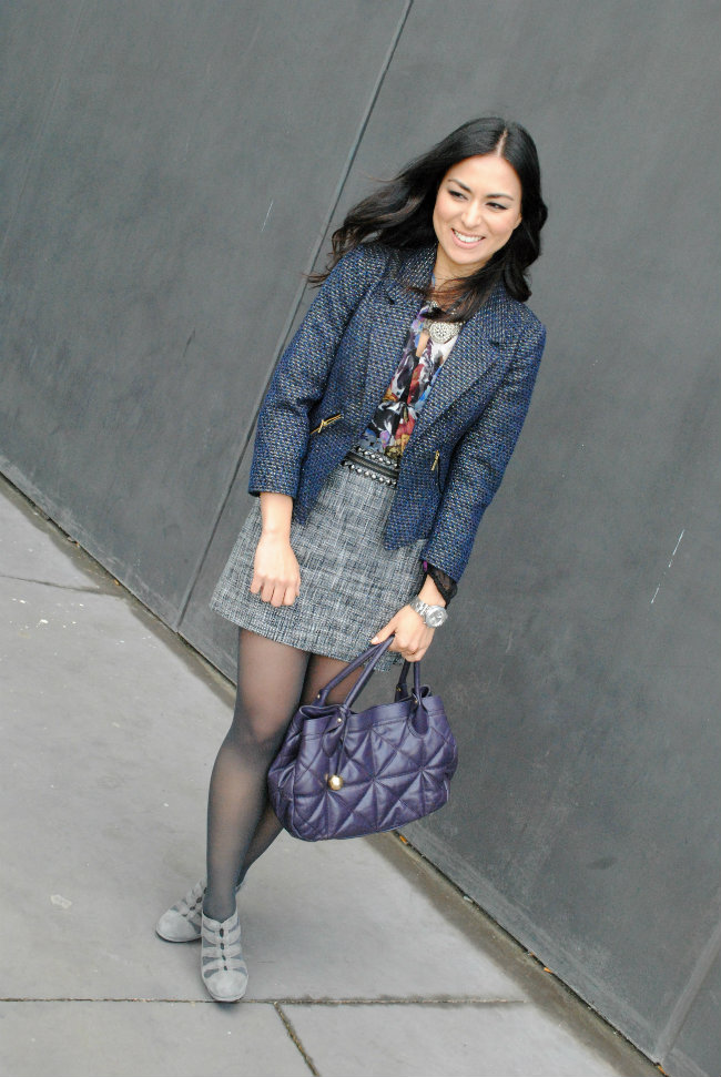 streetstyle, tweed, zara, mango, look of the day, fashion, style