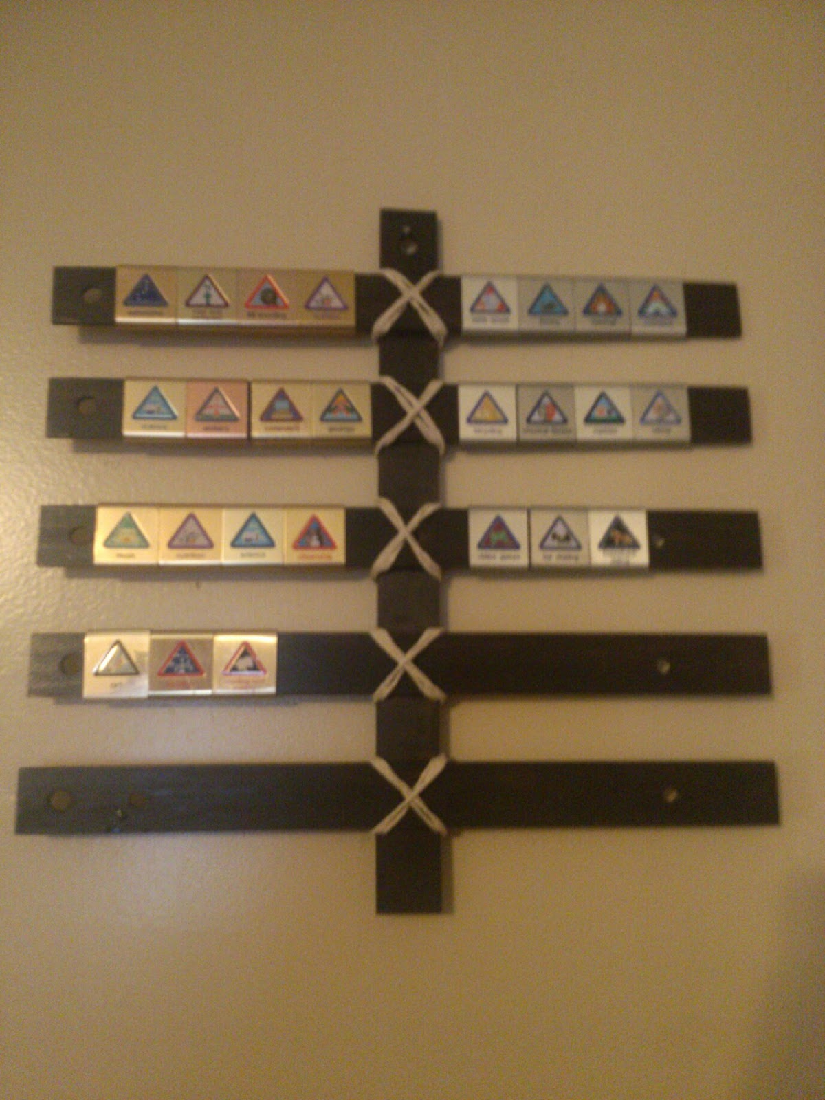 Book Wine And Time Make A Cub Scout Belt Loop Display