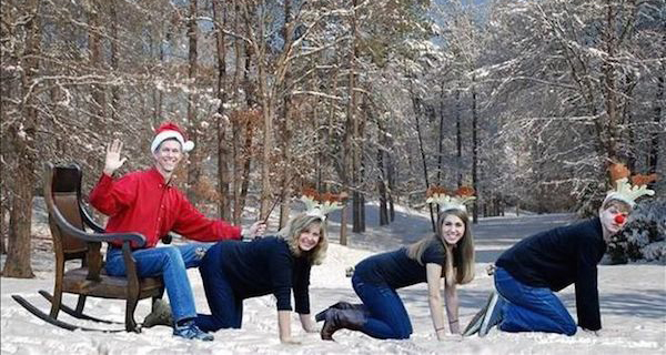 Awkward Christmas Family Photographs