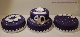 lila tårtor