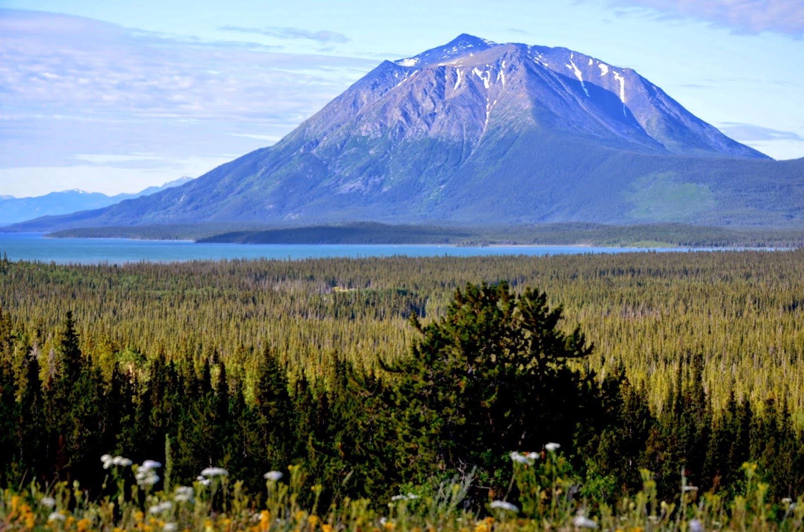 Atlin Lake and Birch Mountain.