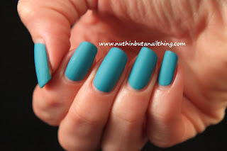 sinful colors savage blue matte polish