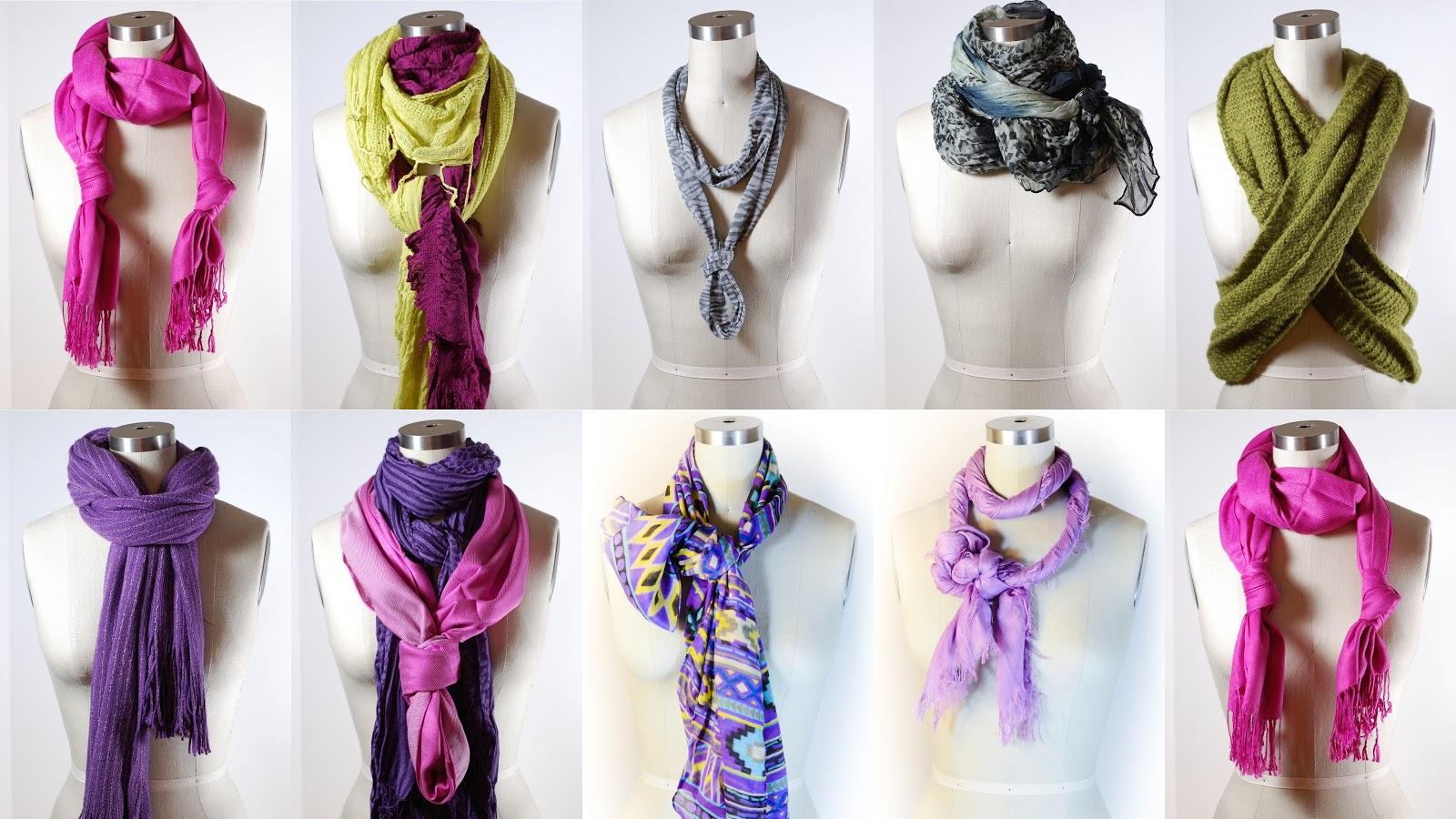 Как завязать шарф фото пошагово