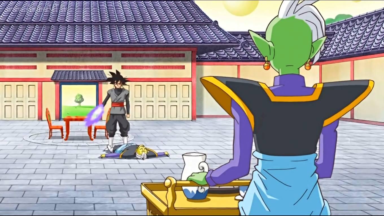 Cuando llegó, Black mató a Gowasu antes de que el Zamasu de esa época lo hiciera y le entregó los pendientes para convertirlo en Kaioshin.