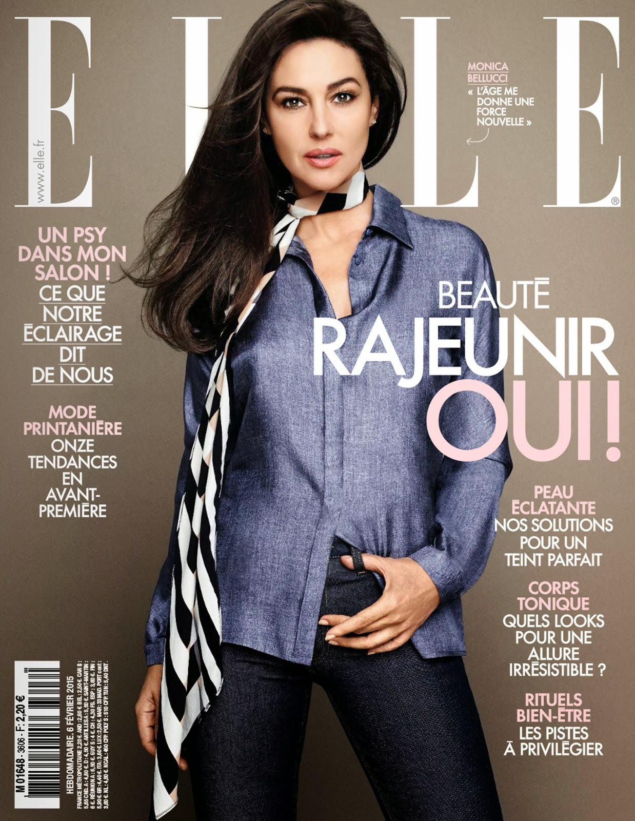 Actress ,Fashion model: Monica Bellucci for Elle