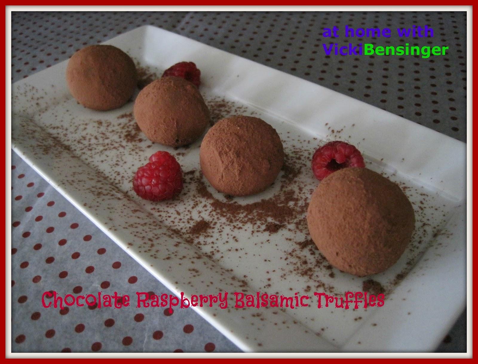 Chocolate Raspberry Balsamic Truffles – At Home with Vicki Bensinger