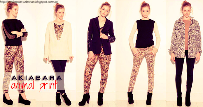 Look animal print Akiabara invierno 2013